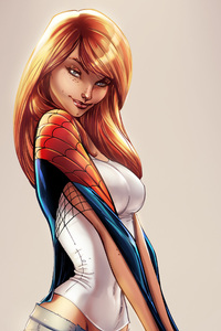 640x960 Gwen Stacy 4k Art