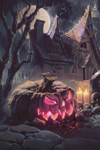 1280x2120 Halloween Artwork