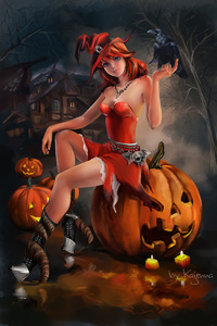 360x640 Halloween Witch Artwork