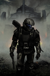 1080x2280 Halo 3 Odst Concept Art 4k
