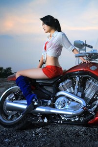 320x480 Harley Davidson 2015 With Model