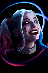 Harley Quinn Abstract Art