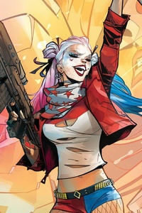 320x480 Harley Quinn Comic Art