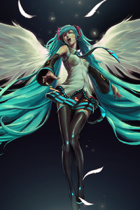 Hatsune Miku Anime Wings