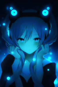 480x800 Hatsune Miku From Vocaloid