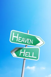 1280x2120 Heaven Or Hell Sign Board