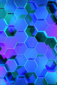 240x400 Hexagon 3d Digital Art 4k