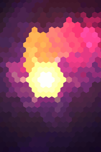 640x1136 Hexagon White Yellow Red Purple Abstract