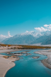 High Beautiful Mountains Natural Water Landscape