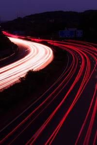 750x1334 Highway Light Trails Photography 5k
