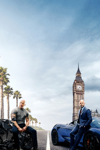 480x854 Hobbs And Shaw 5k Poster