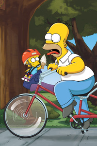 360x640 Homer Marge Bart Lisa The Simpsons Family 4k 5k