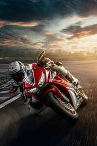 1080x2280 Honda Motorcycle Track Bike