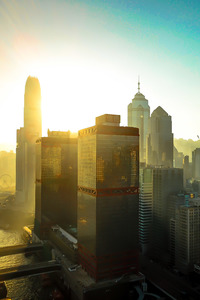360x640 Hongkong Buildings Skycrapper City 4k