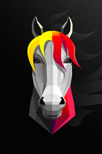Horse Abstract Minimalist 8k