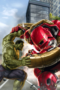 640x960 Hulk And Hulkbuster