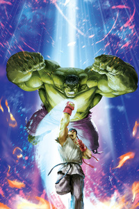 Hulk Vs Ryu MVCI Artwork