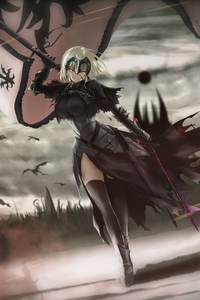 1125x2436 Hunt Time Jeanne Ruler Avenger Fate Grande Order 4k