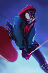 1125x2436 Into The Spiderverse Fanart