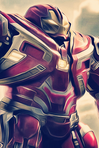 320x568 Iron Hulkbuster In Avengers Infinity War 2018 Artwork
