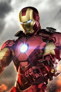 480x854 Iron Man 5k Digital Artwork