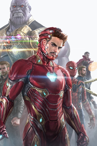 Iron Man And His Team