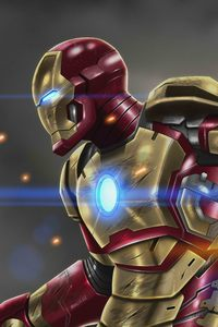 640x1136 Iron Man At War 10k Artwork