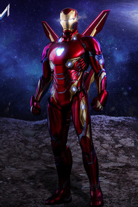 640x1136 Iron Man Avengers Infinity War Suit Artwork