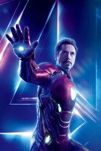 2160x3840 Iron Man In Avengers Infinity War 8k Poster