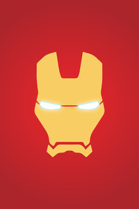 640x1136 Iron Man Mask Minimal