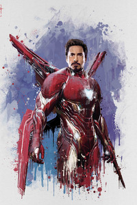 640x1136 Iron Man New Suit For Avengers Infinity War Movie