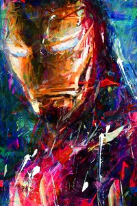 640x960 Iron Man Portrait