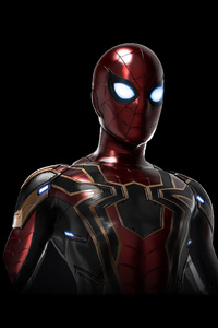 320x568 Iron Spider Suit Avengers Infinity War
