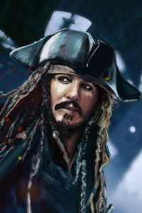 480x854 Jack Sparrow 5k Artwork