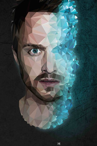 360x640 Jesse Pinkman Breaking Bad 4k Low Poly