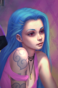 240x320 Jinx League Of Legends 2017