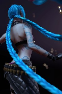 Jinx League Of Legends Blue Hair