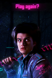 1440x2960 Joe Keery Stranger Things Fan Art 4k