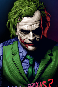 1080x1920 Joker Heath Ledger Illustration