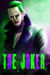 Joker Jared Leto Artwork 5k 750x1334