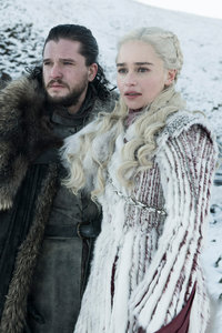 1280x2120 Jon Snow And Daenerys Targaryen Game Of Thrones Season 8