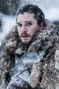 750x1334 Jon Snow Beyond The Wall Game Of Thrones 4k