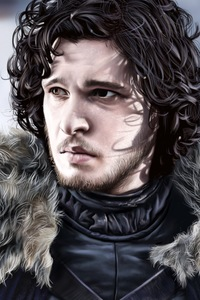 750x1334 Jon Snow Fan Art