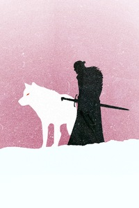 750x1334 Jon Snow Game Of Thrones Minimalism