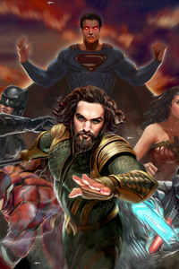 320x568 Justice League Artwork Superheroes