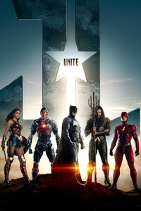 1280x2120 Justice League Batman Aquaman Flash Cyborg Wonder Woman