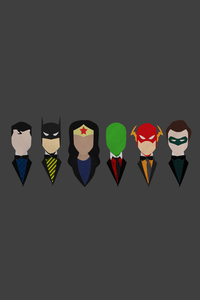 Justice League Characters Dressed Minimalism