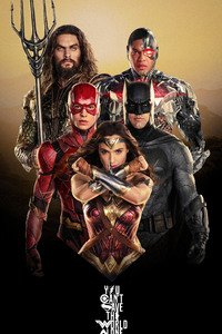 720x1280 Justice League Characters Poster 4k
