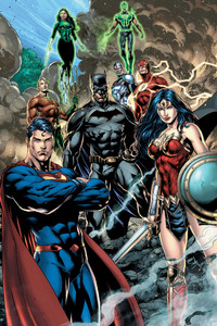 Justice League Dc Comic Art