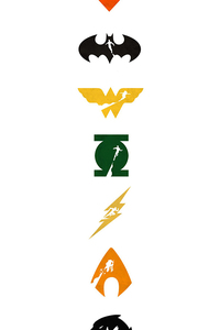 240x400 Justice League Logo Art